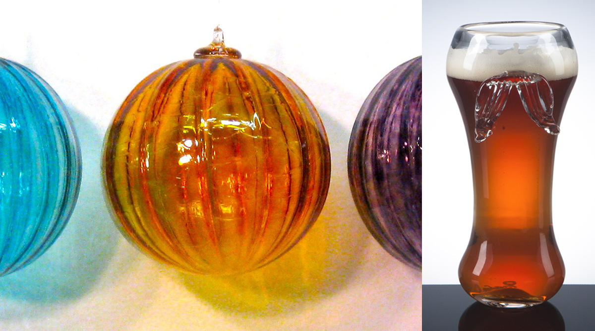Mouth-Blown Beer Glasses & Ornaments