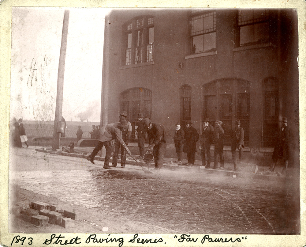 Knoxville Street Paving Scenes 1893