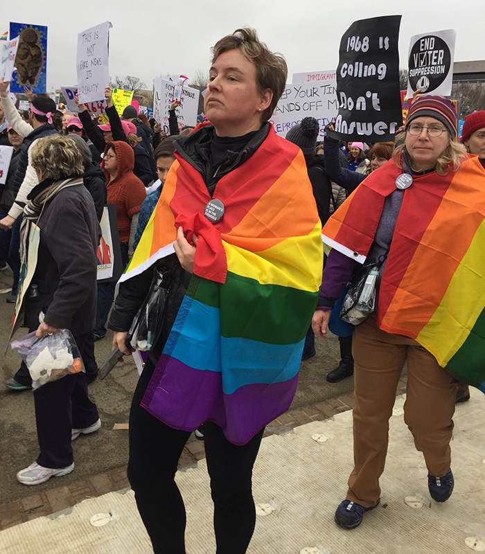 Rainbowflags Womensmarch