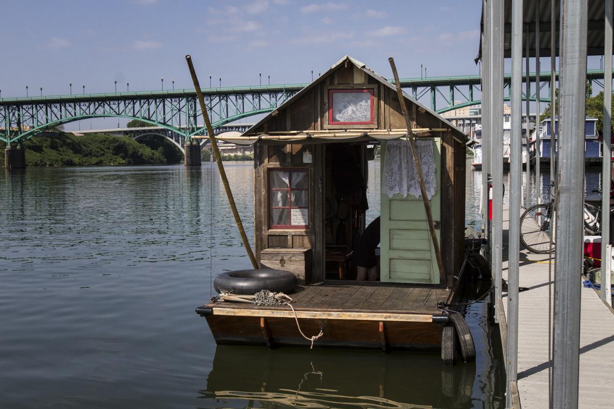 All aboard the shantyboat Dotty