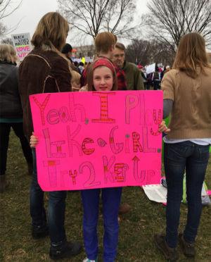 GirlWomensMarch