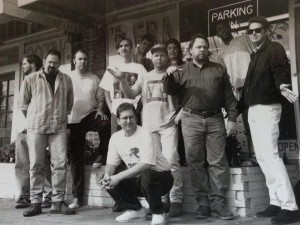 Here's the full staff of Raven Records on Cumberland Avenue, shortly before owner Jay Nations shut the store down in 1995.