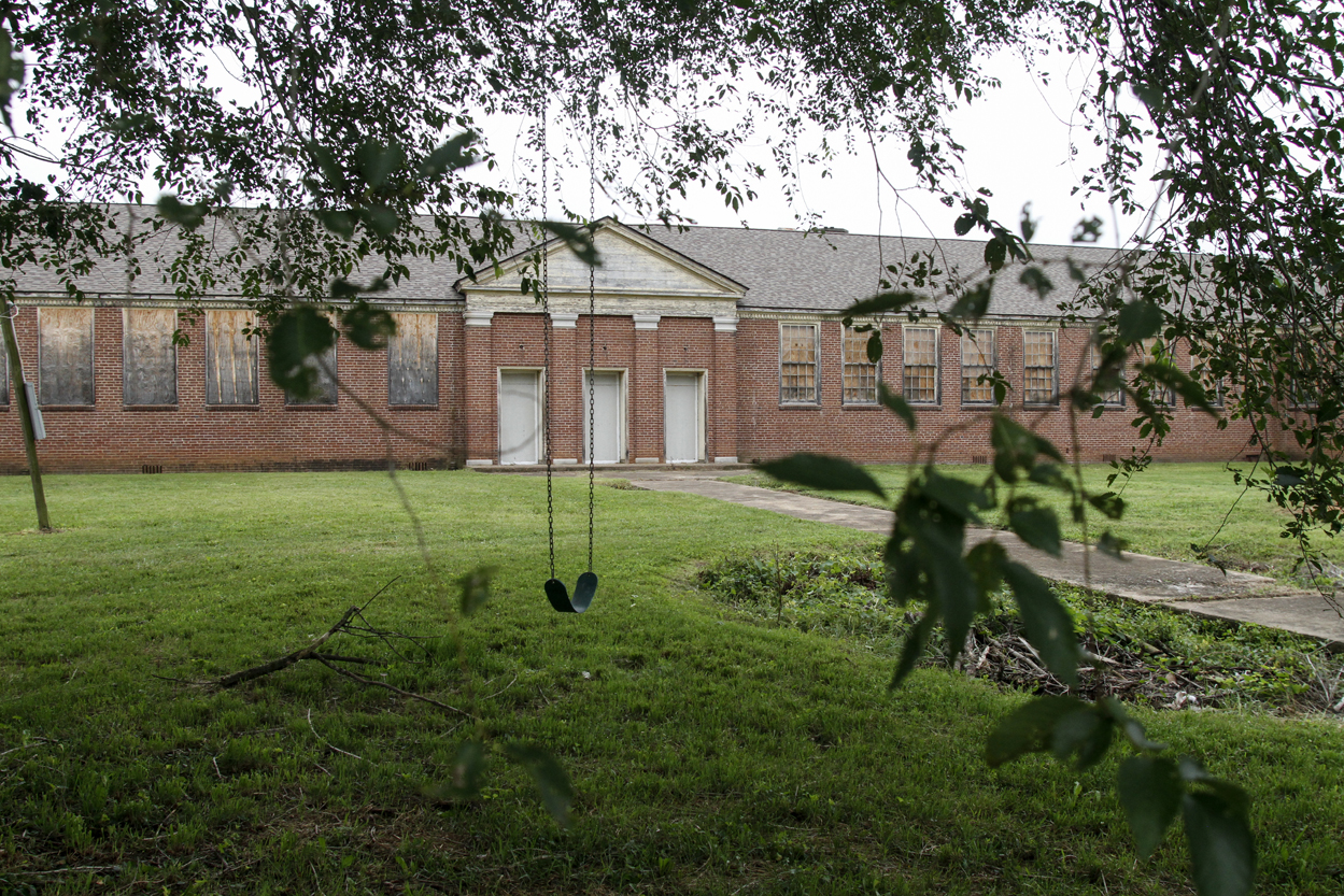 The city of Knoxville is looking for proposals to redevelop the Old South High School on E. Moody Ave. Photo by Clay Duda.