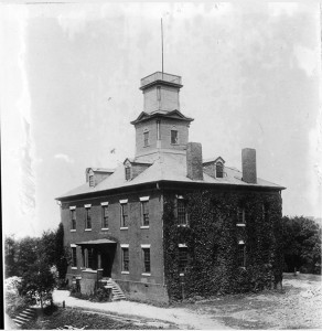 Old College, the first building on campus, was built in 1828 and torn down in 1916, to be replaced with Ayres Hall.
