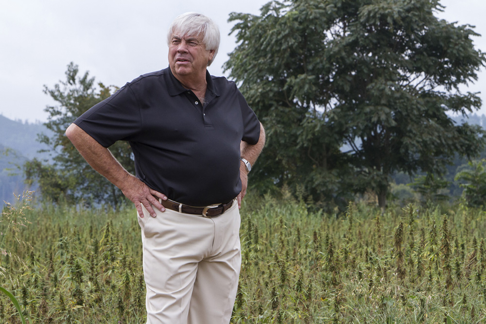 Charles Mason sees potential in hemp as a cash crop for Tennessee. He planted about 60 acres this year in Cocke County, which he plans to harvest for fiber and oil.