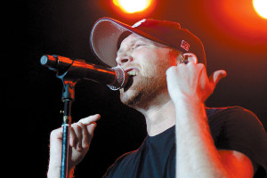 Cole Swindell performed during the opening date of the 2014 Luke Bryan Farm Tour at Maple Lane Farms in Greenback.