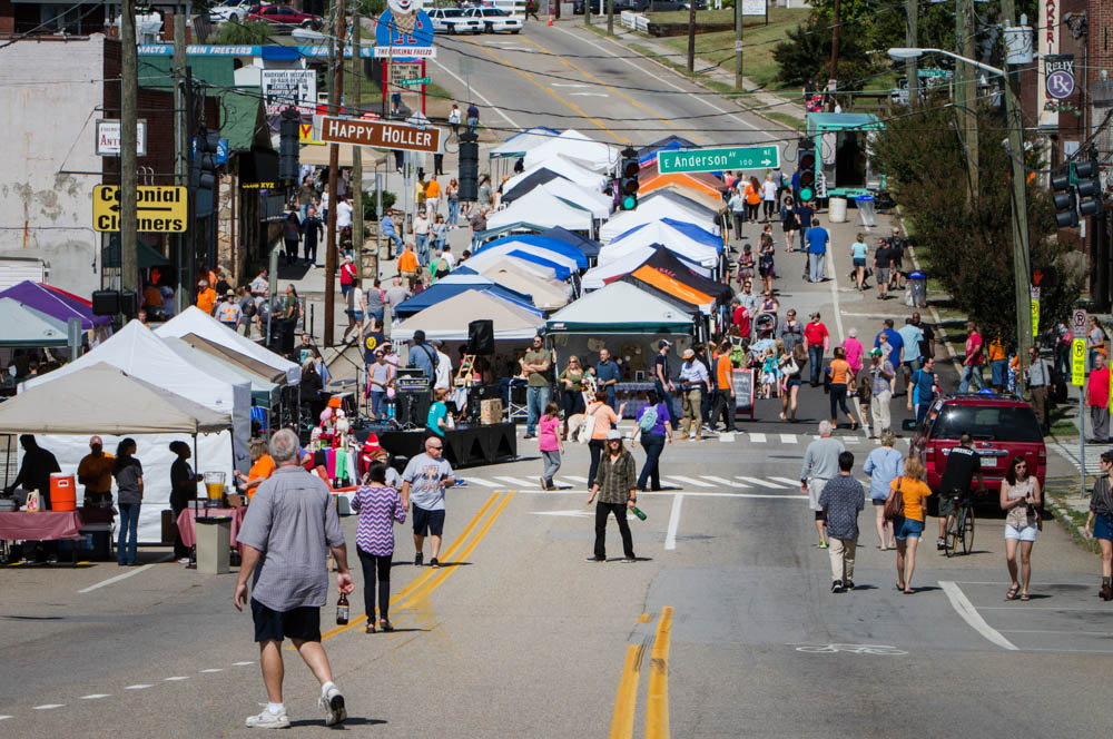 Throngs of people flock to Happy Holler during the annual Happy Hollerpalooza Street Fair on Sat., Sept. 26, 2015. Photo by Clay Duda.