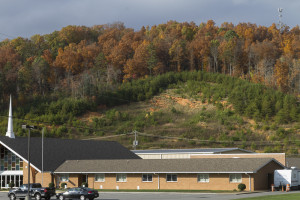 Even today, a hillside in northwest Knoxville cited by MPC for its high potential for erosion and land-slides sits mostly barren, dotted with sprouts of trees and other small vegetation. The HRPP was designed, in part, to address such issues of erosion and runoff. Photo by Clay Duda.