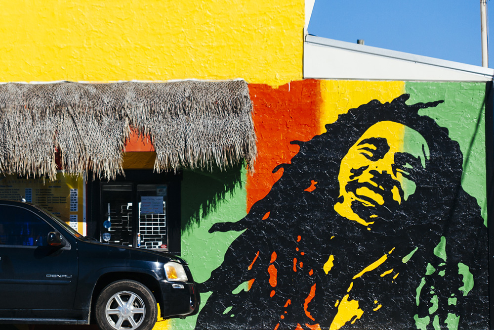 Rocky's Jamaican Sunrise drive-through.