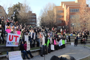 """Your University is Under Attack Rally,"" Feb. 5, 2016, a the University of Tennessee campus."