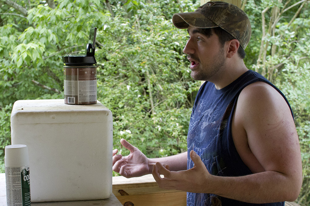 """Trae Crowder at work recording a """"Liberal Redneck"""" video at his home in Oak Ridge."""