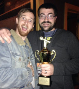 Trae Crowder (left) with his fellow WellRED Tour comedian, Drew Morgan.