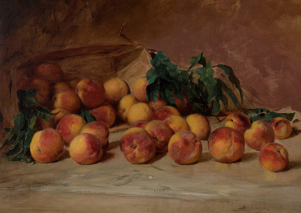 Lloyd Branson, Still Life With Peaches, courtesy of the Knoxville Museum of Art