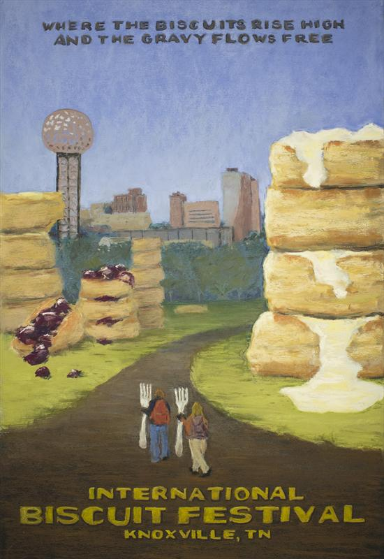 International Biscuit Festival poster by Keith Demanche.