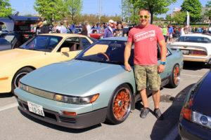 Todd Hudson and his 1989 Nissan Silvia