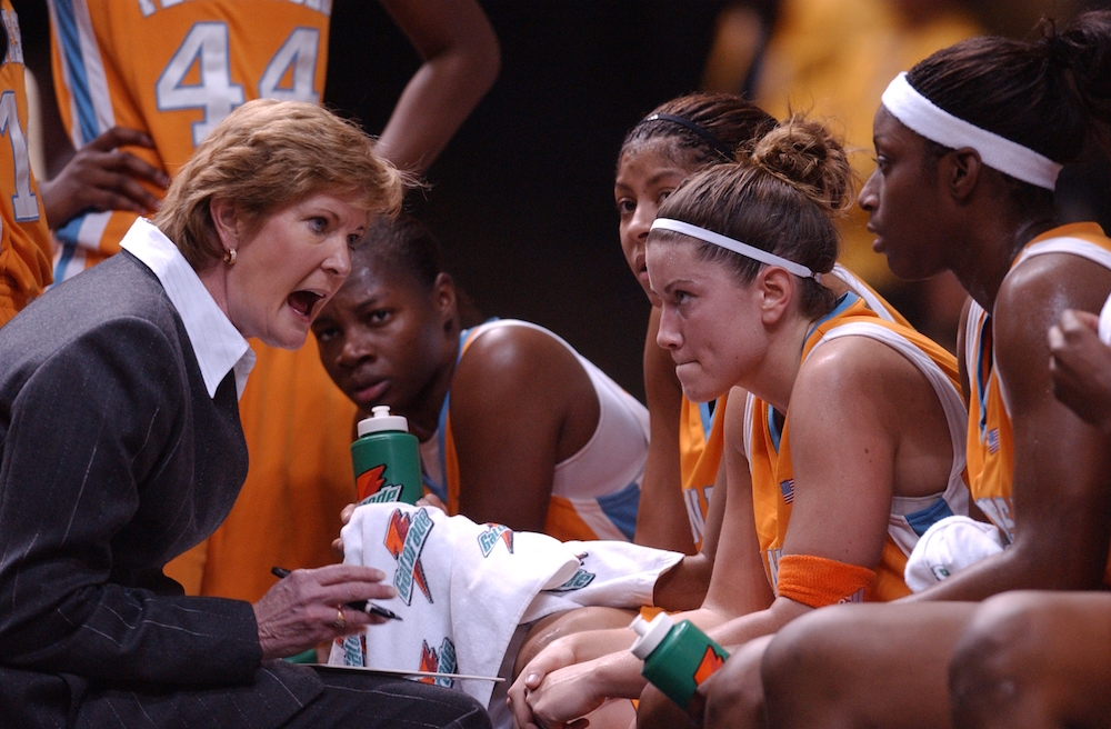 KNOXVILLE, TN - JANUARY 19, 2006 -  Head Coach Pat Summitt during the game between the Vanderbilt Commodores and the Tennessee Lady Volunteers at Thompson-Boling Arena in Knoxville, TN. Photo By Tennessee Athletics