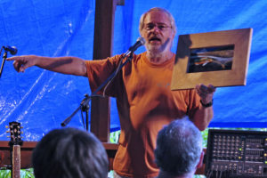 Steve Scarborough raises some funds at Whites Creek Palooza.