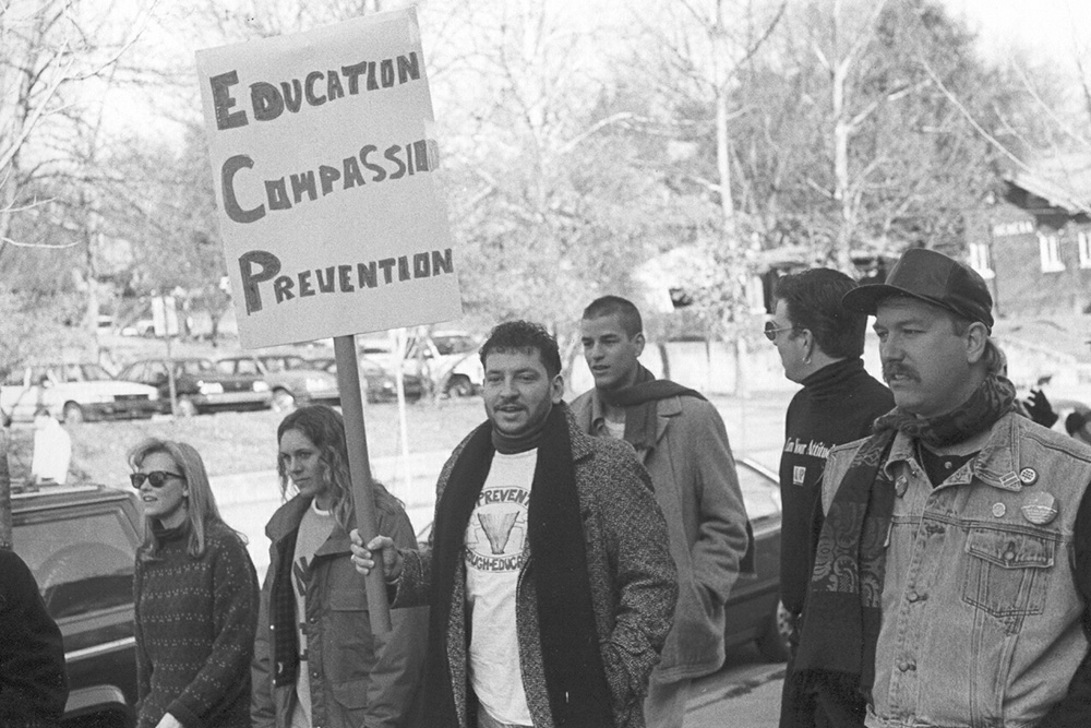 AIDS Walk on Volunteer Boulevard on Dec. 6, 1993