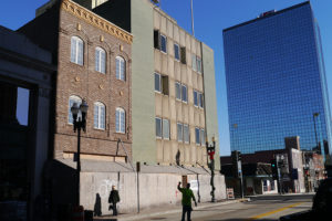 The former KUB building—almost universally agreed upon as being the ugliest downtown—is about to start getting a major revamp into the new headquarters for Tombras Group.
